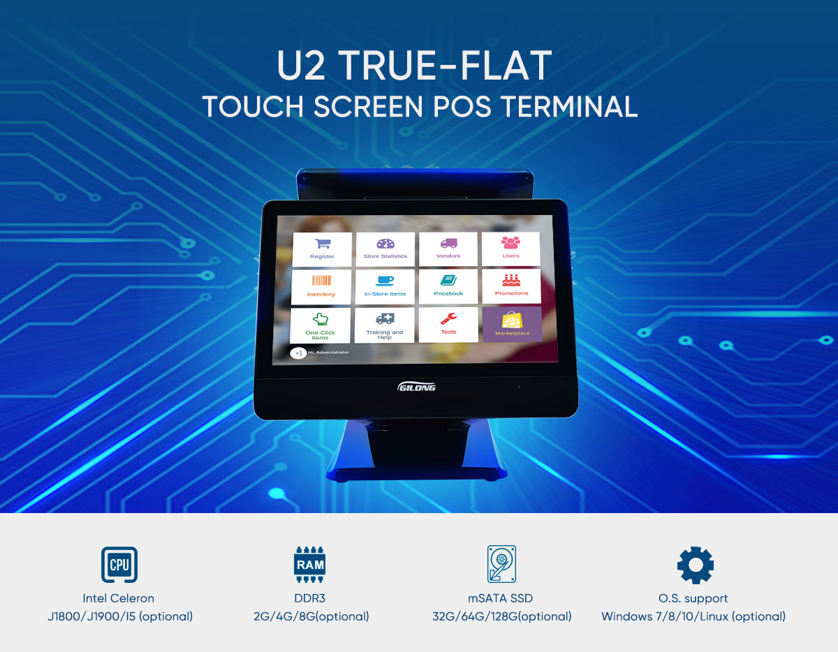 touch screen linux pos